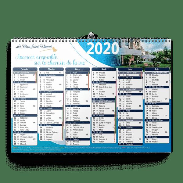 CALENDRIER RESIDALYA 2020