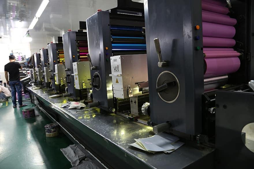 offset printing printing service factory printing machine