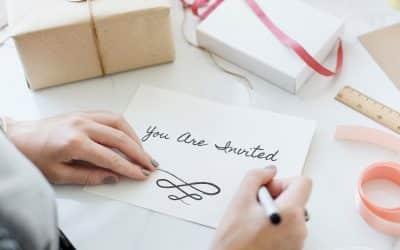 Les 5 éléments indispensables pour créer son carton d'invitation