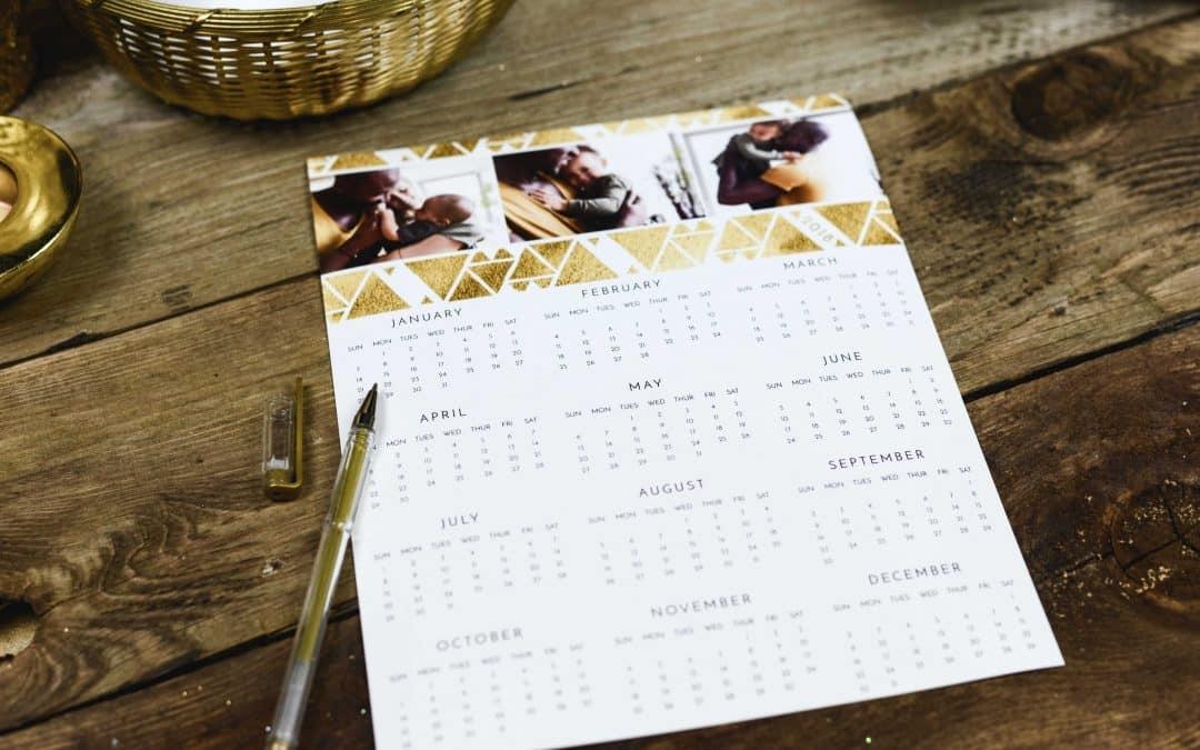 Pour les fêtes de fin d'année, optez pour le calendrier personnalisé